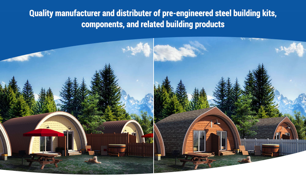 DwellTech Industries, Curved, metal, roof, cottages, accessory, dwellings, built on site, modern, Quonset hut, West Coast living